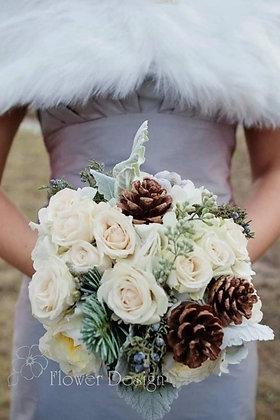 Букет невесты зимний, белый