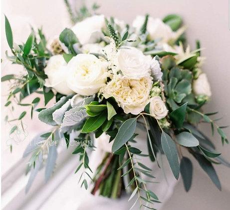 Букет невесты белый из роз