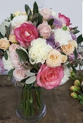 Букет невесты из 4-хвидов роз