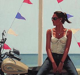La Fille a la Moto - Jack Vettriano