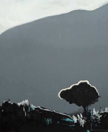 Дерево на схилі, полотно, акрил, 115х95