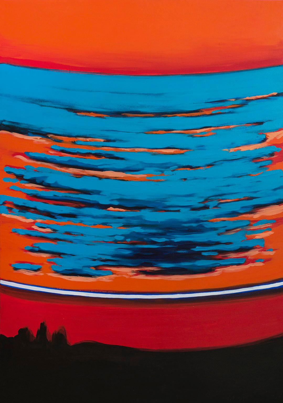 ''Блакитна хмара'' полотно, акрил, 140х1