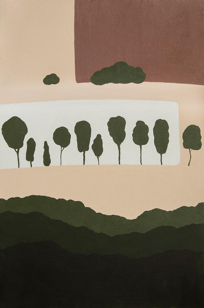 """""""Пейзаж з деревами"""" Акрил, полотно. 170x"""