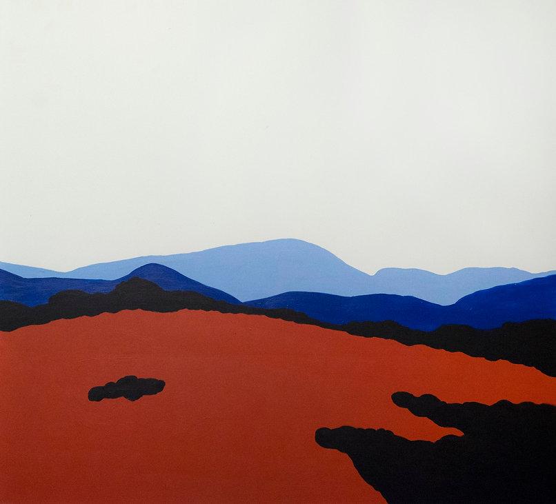 Червона полонина, полотно, акрил, 110х12
