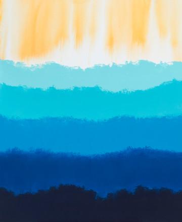 Віддалення на світанку, полотно, акрил,