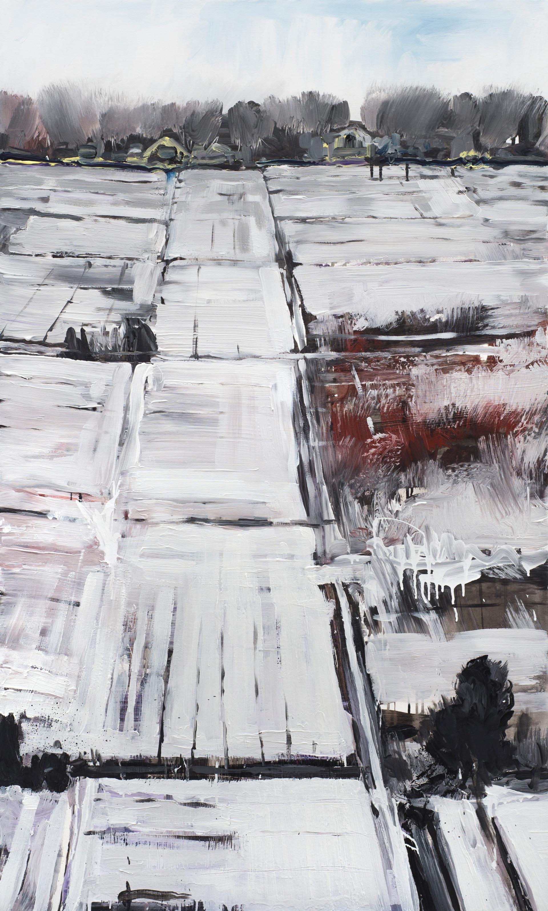 ''Городы'' Полотно, акрил 150х90см. 2017