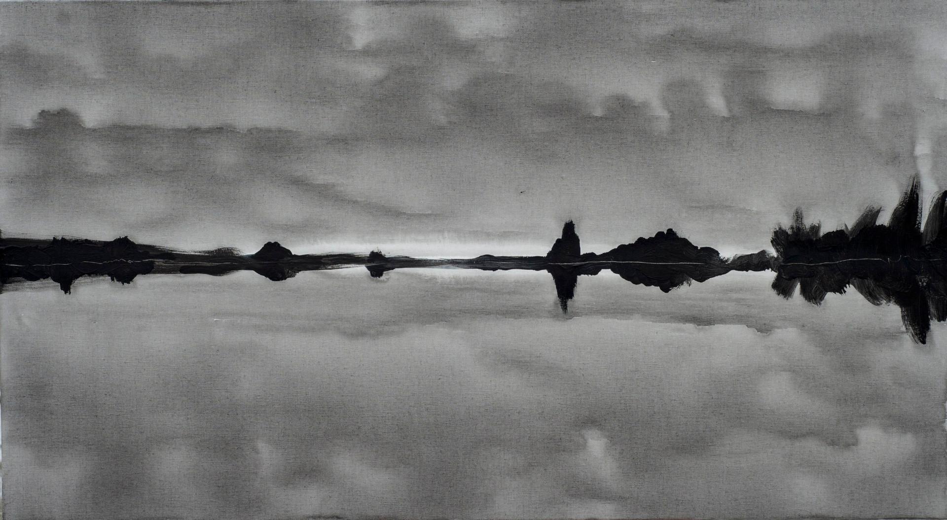 Горизонт сірий, 100х55см, полотно, акрил
