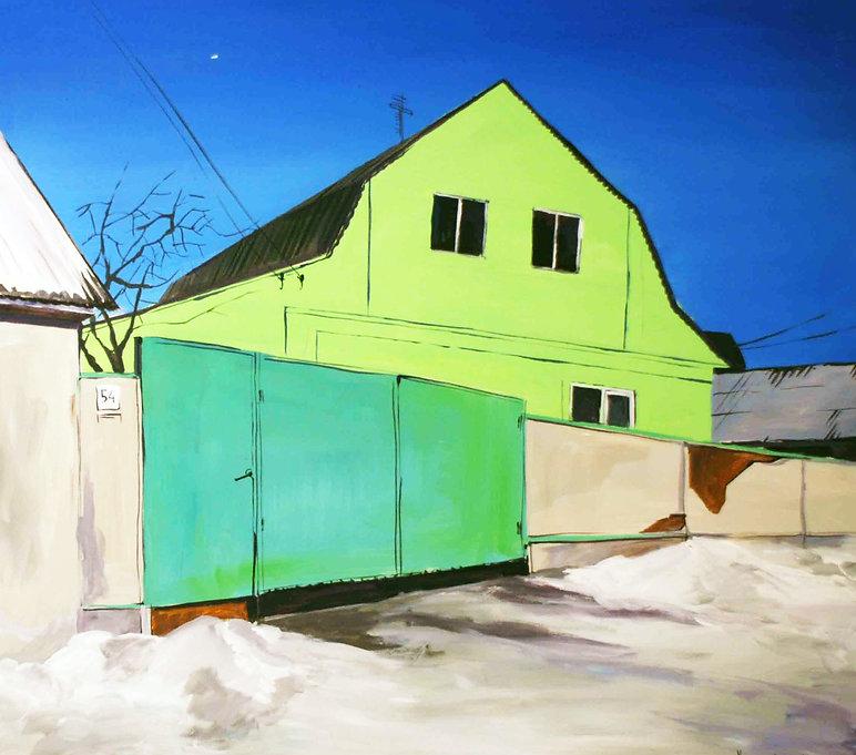 """""""Новий фасад""""  Акрил, полотно.  70х60 см"""