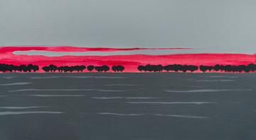 Сіре Поле, полотно, акрил, 110х60 см, 20
