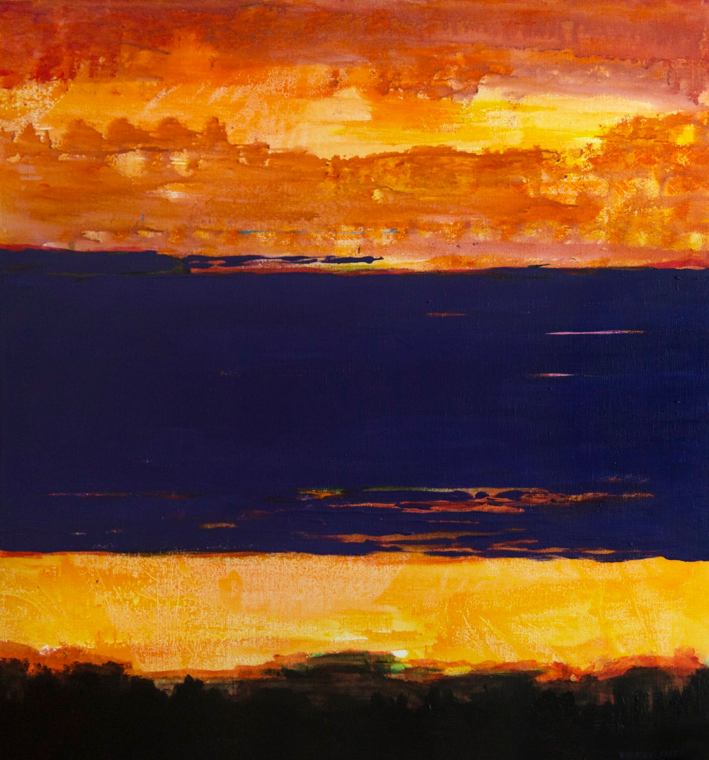 Фіолетова хмара, полотно, акрил, 110х115