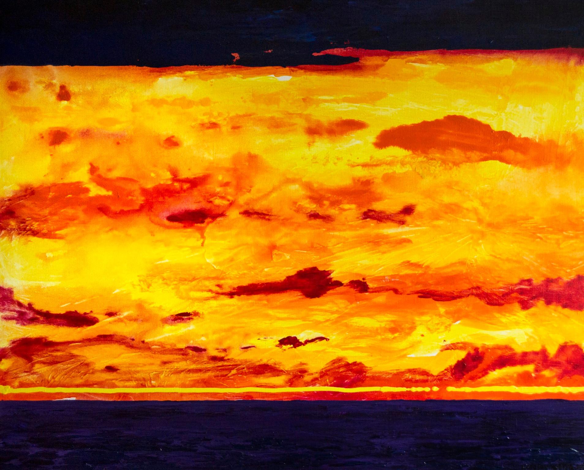 Гаряче небо, полотно, акрил, 115х95 см,