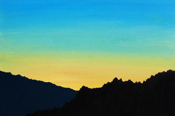 """""""Захід сонця над Синевіром"""" Акрил, полот"""