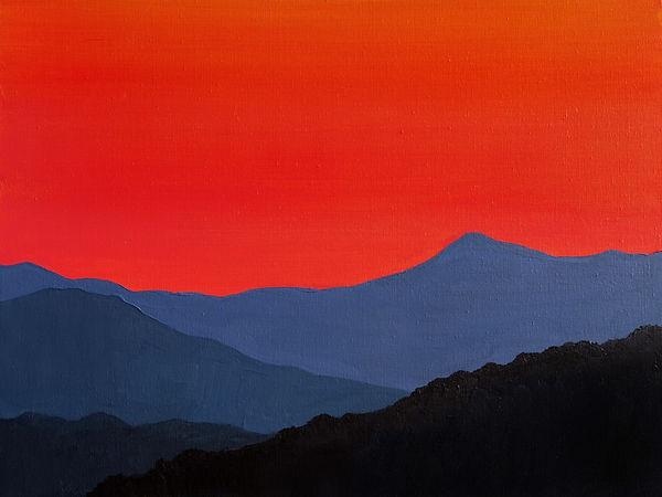 """""""Захід сонця на Яблунецькому перевалі """""""