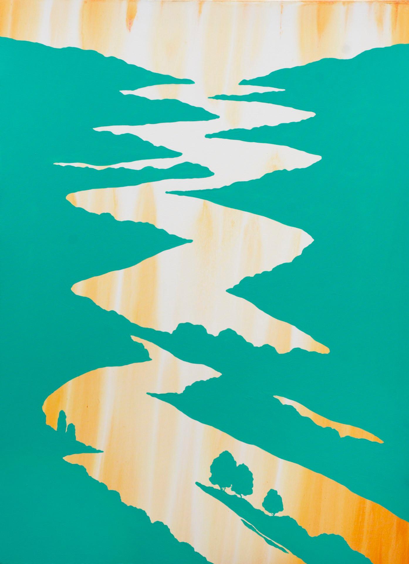 Світанок на річці, 110х150см, полотно, а
