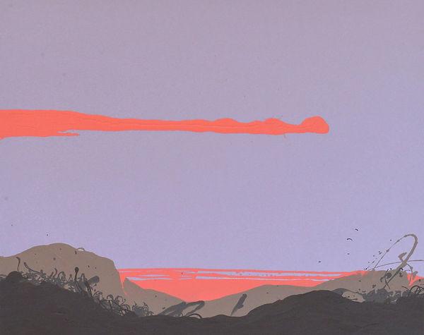 """""""Карпати схід сонця"""" Акрил, полотно. 60х"""