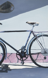 """""""Старий велосипед""""   Акрил, полотно.  17"""
