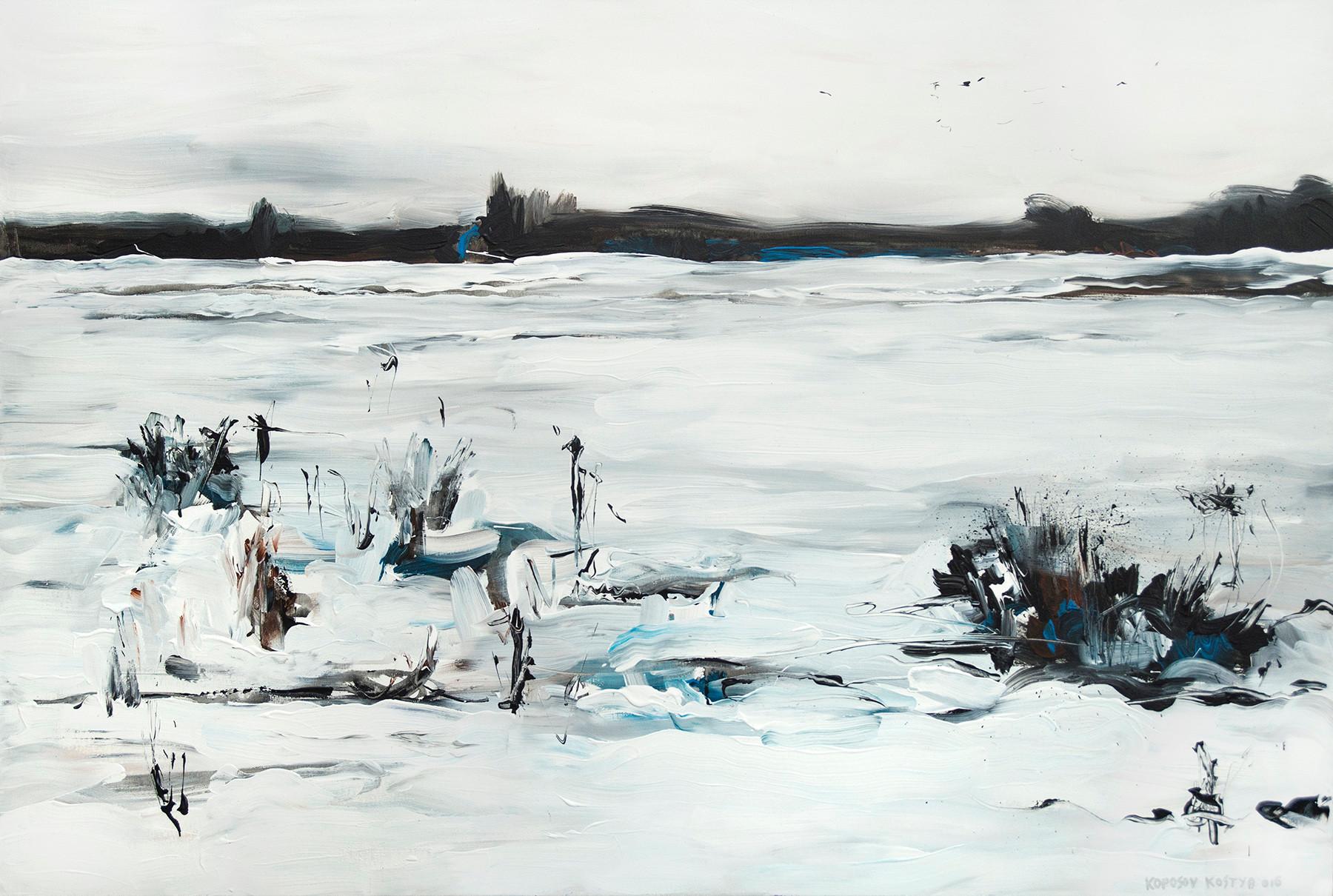 ''Засніжене поле'' акрил,полотно, 120х80