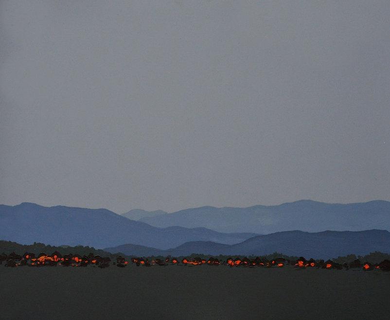 """""""Вечір у горах"""" Акрил, полотно. 120x100"""