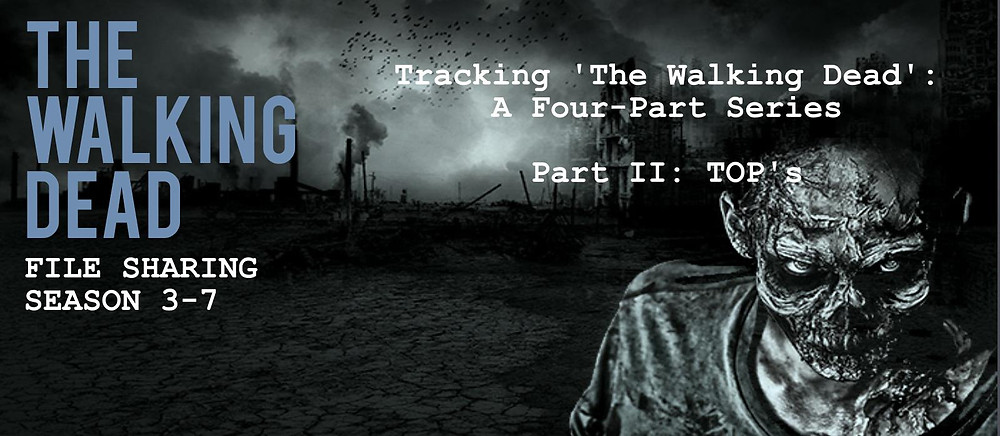 Header of TECXIPIO infographic about an anylsis of all of the 'top's' of 'The Walking Dead'