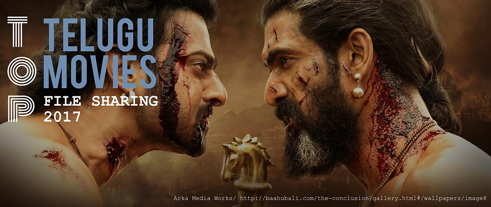 "Header image. Top 10 Telugu movies 2017. The picture shows actors of the popularTelugu movie ""Baahubali 2: The Conclusion"""