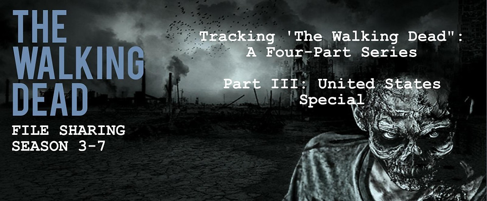 "Header of the 4 part series ""tracking The Walking Dead"" - United States special"