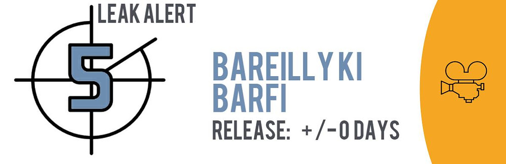 """Teaser image of the TECXIPIO Leak Alert. The Bollywood movie """"Bareilly Ki Barfi"""" has been leaked in P2P networks on August 18, 2017."""