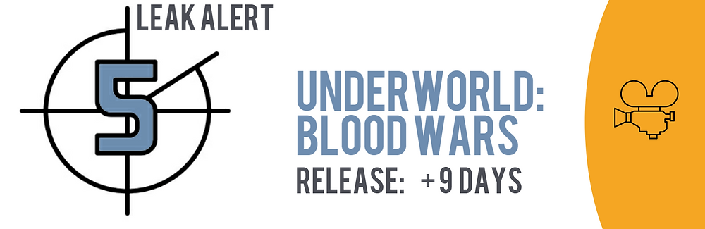 Teaser image of the TECXIPIO Leak Alert showing Underworld: Blood wars. File sharing activity kicked off 9 days after the official release
