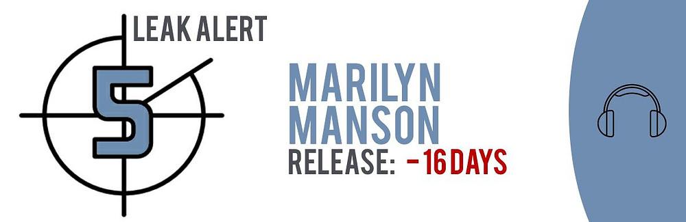 TECXIPIO Leak Alert. Marilyn Manson's album 'Heavn Upside Down' leaked 16 days before the official release!