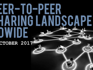 File sharing landscape 2017: Where did peer-to-peer network users share which files during 2017?
