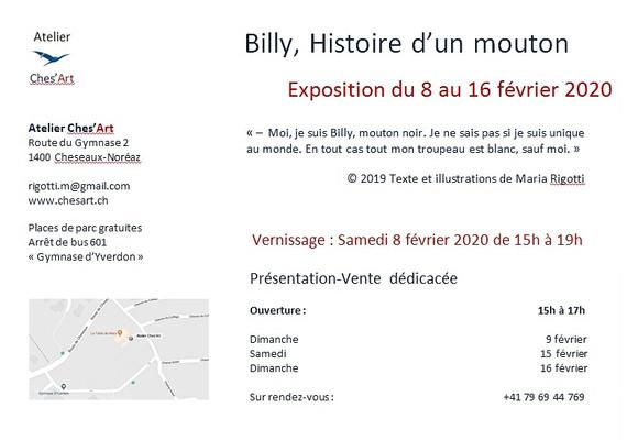 Exposition-vente dédicacée Billy