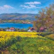 Le colza, le lac et le Jura