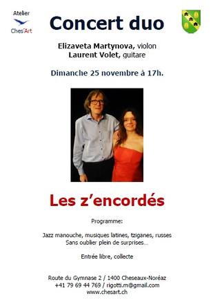 Concert Les z'encordés