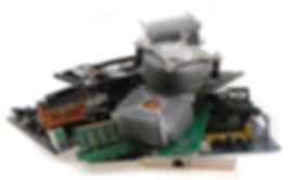 Recycle Computer Parts, heatsink, motherboard, processor, hard drive, etc