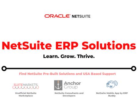 Benefits of using NetSuite ERP