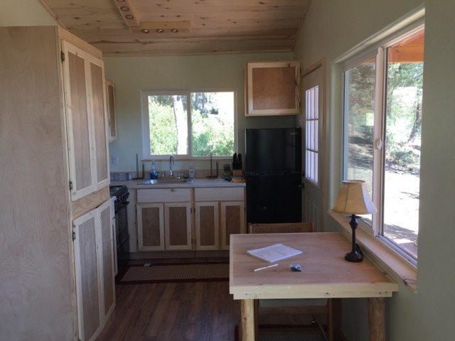 tiny house cabin kitchen