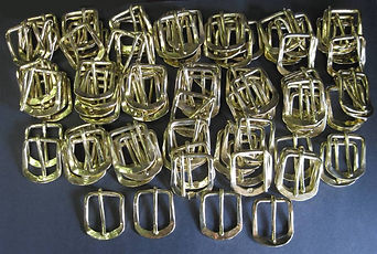 Our custom made bronze buckles