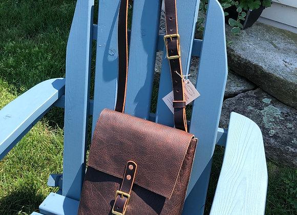 Bison Leather Messenger Bag, Leather Work Bag