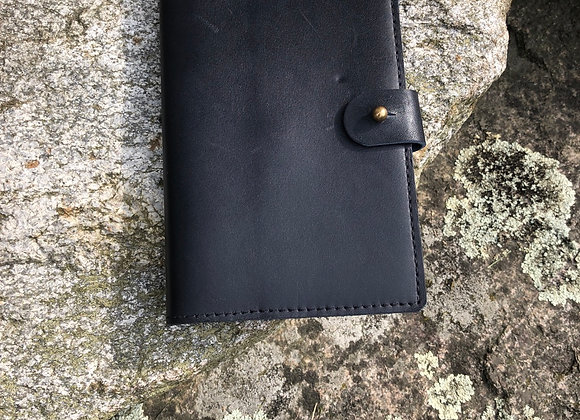 Field Notes Cover with 72 Page Field Notes, Navy Leather