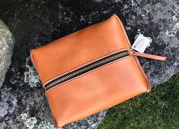 Shave Kit, Dopp Kit, Toiletry Bag, Travel Bag, Russet Leather