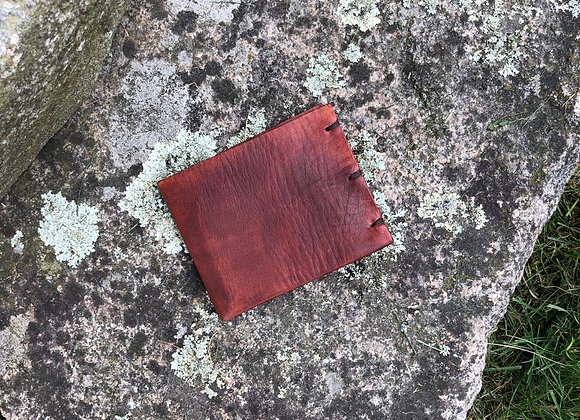 Leather Folding Wallet, Hand Dyed Card Holder