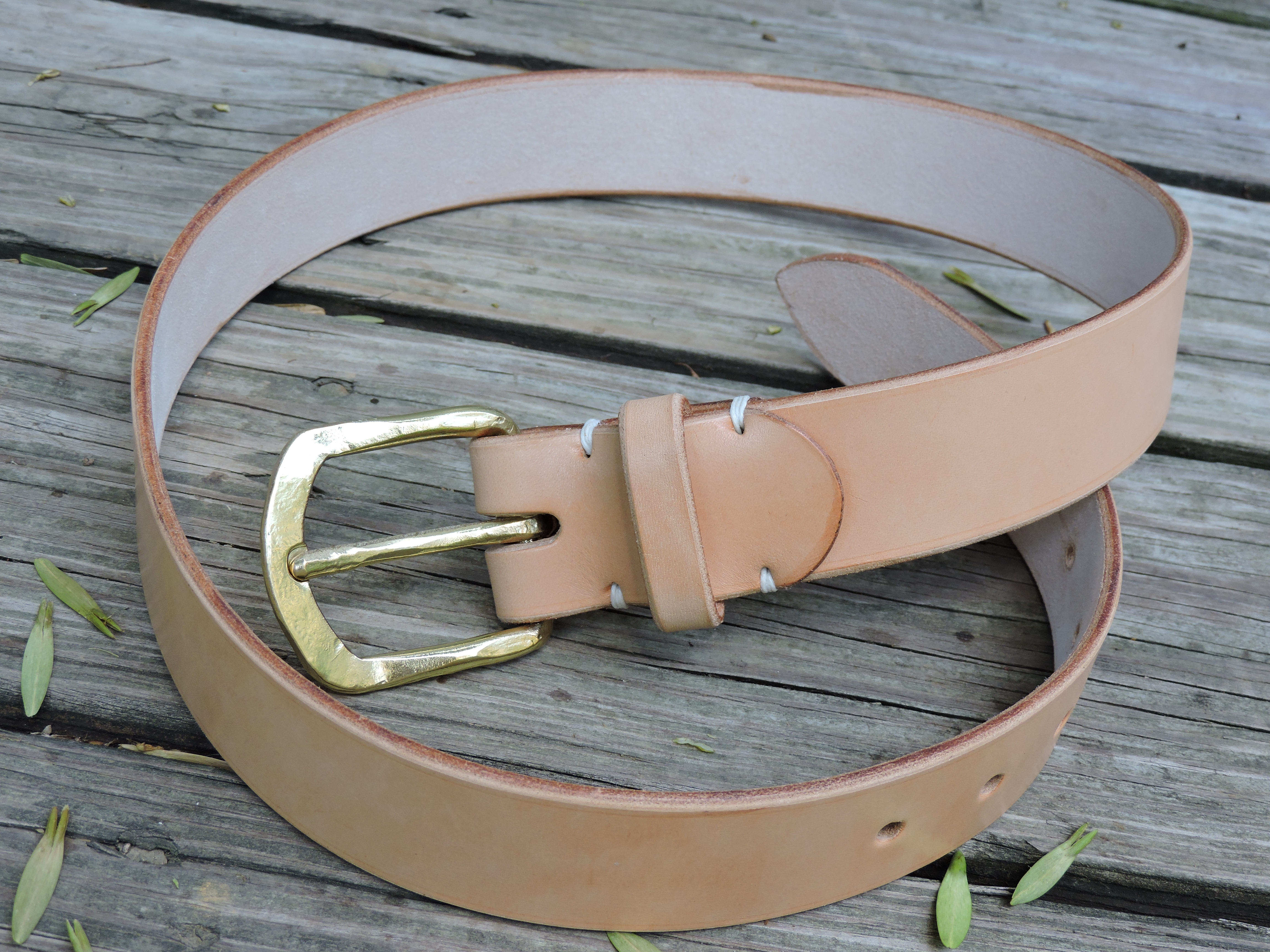 Leather Belt with Hand Forged Buckle