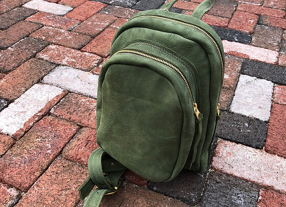 Daypack, Moss Green Suede