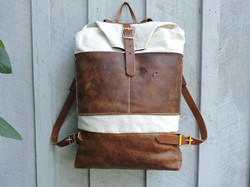 Canvas and Distressed Leather