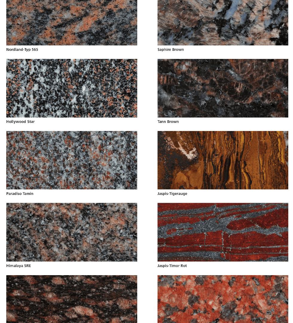Grabstein-Materialien