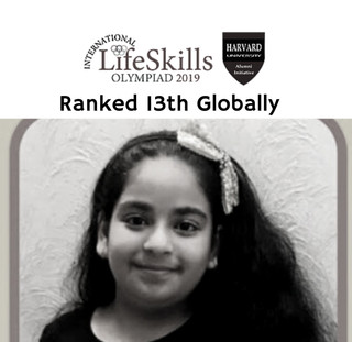 Ranked internationally - 13th out of 30000 students from 100 countries.