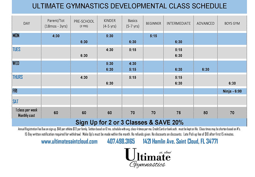 21-03-01 Ultimate Developmental Schedule