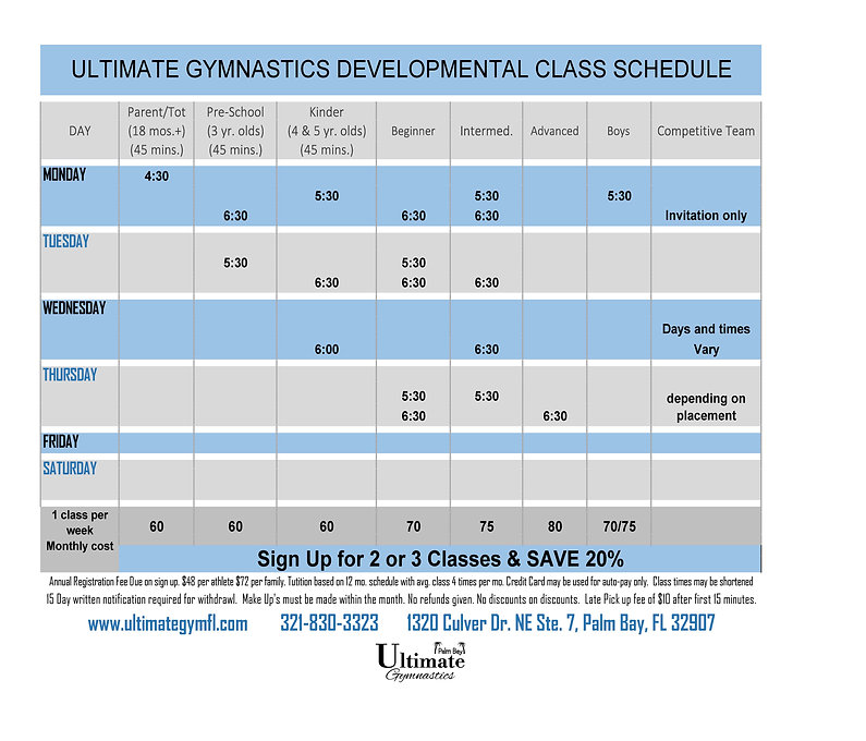 21-04-13 ULTIMATE Palm Bay CLASS SCHEDUL
