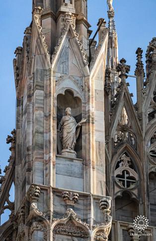 Duomo di Milano, statue closeup, Milan, Italy