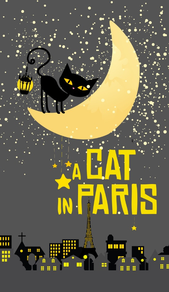 A cat in Paris, Art print by Sara Eshak