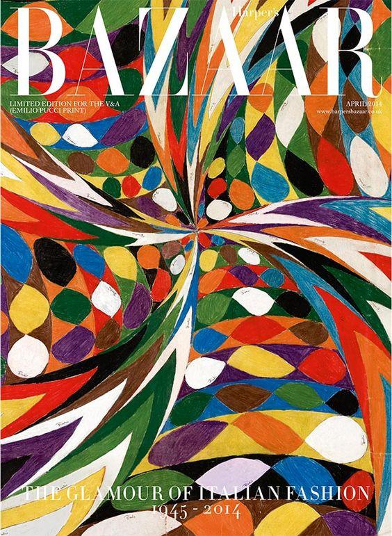 Emilio Pucci Harpers bazaar April issue cover